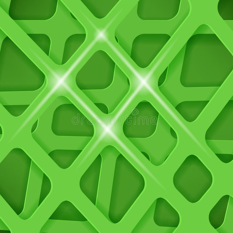 Пересеченные линии предпосылка крышки зеленого цвета конспекта иллюстрация вектора