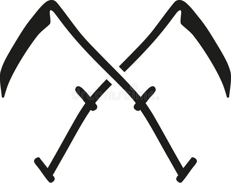 Пересеченный вектор кос иллюстрация штока