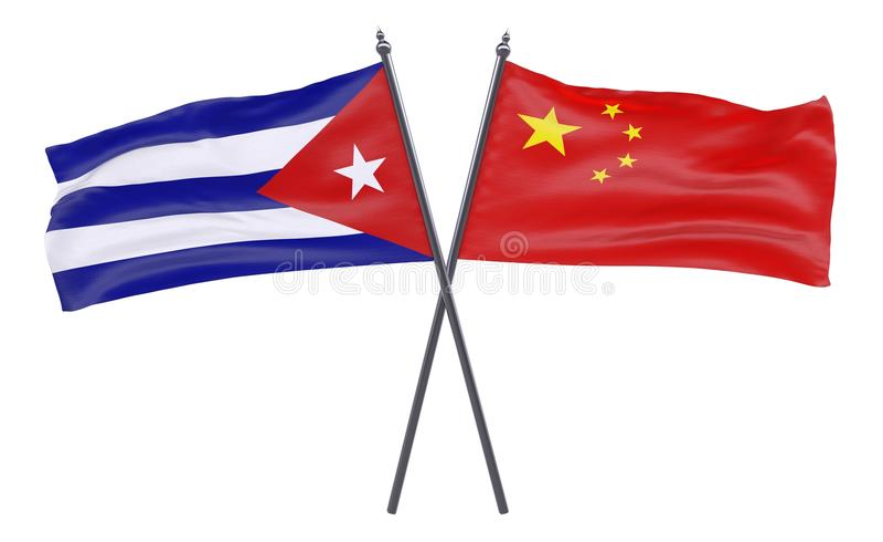 2 пересеченных флага иллюстрация штока