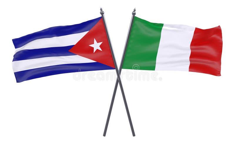 2 пересеченных флага бесплатная иллюстрация