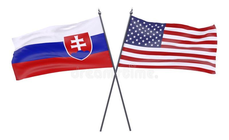 2 пересеченных флага иллюстрация вектора