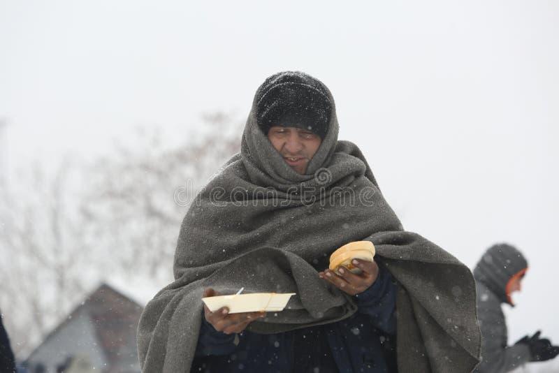 Переселенцы в Белграде во время зимы стоковое изображение rf