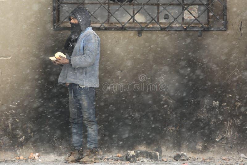 Переселенцы в Белграде во время зимы стоковые фотографии rf