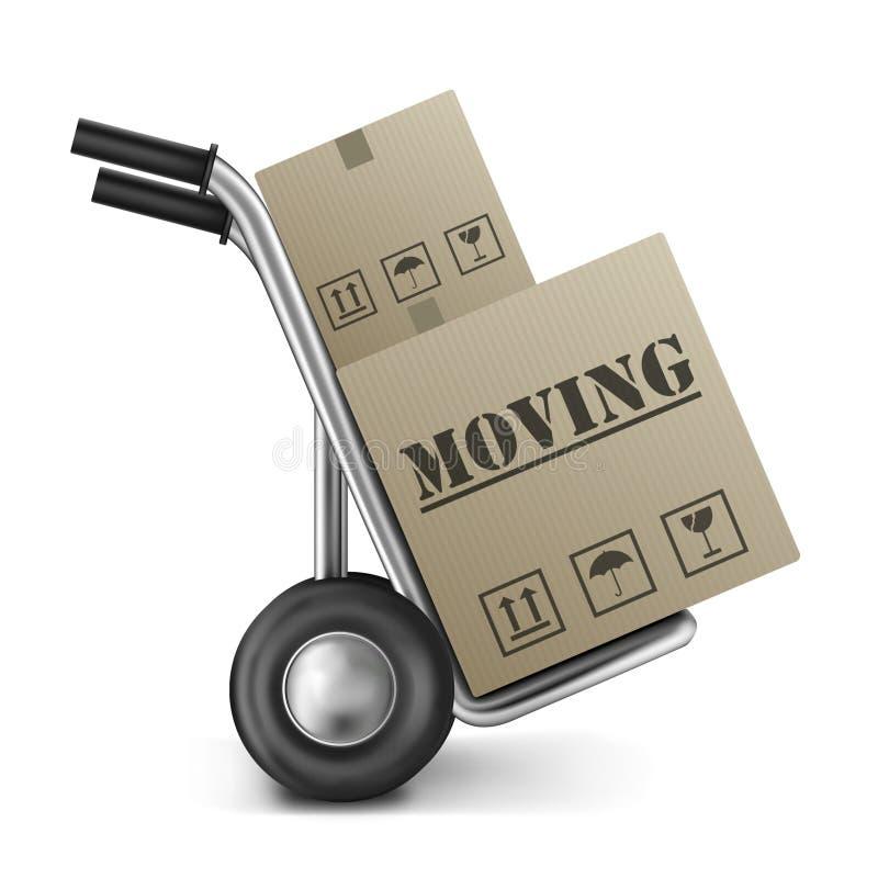 перестановка картона moving бесплатная иллюстрация