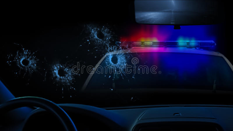 Перестрелка полиции стоковое изображение
