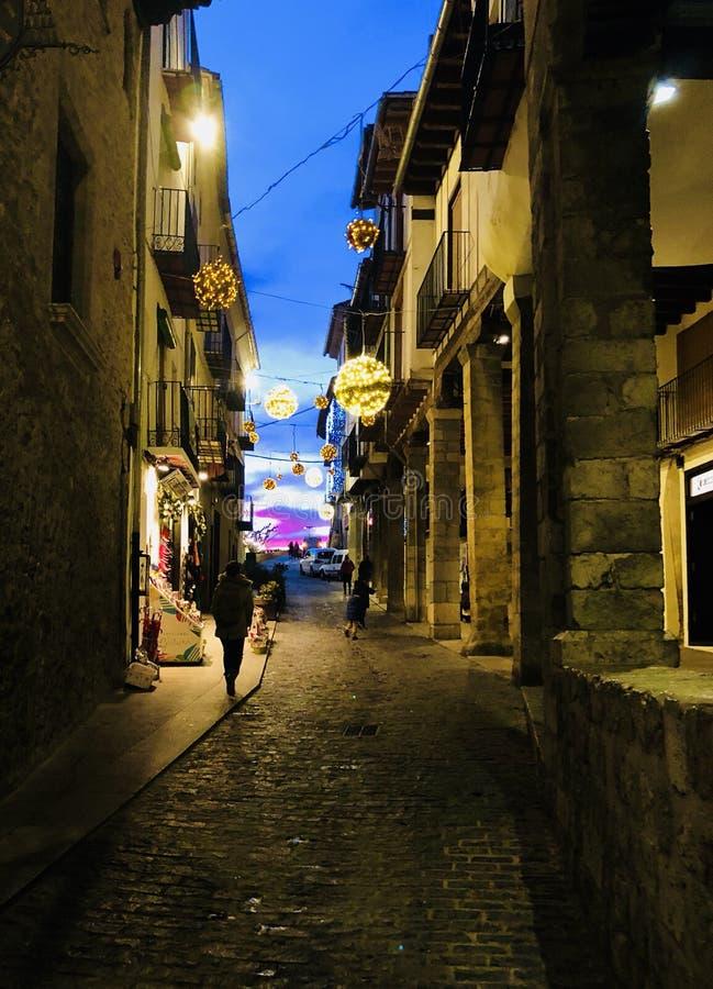 Переулок в Morella Испании стоковое фото rf