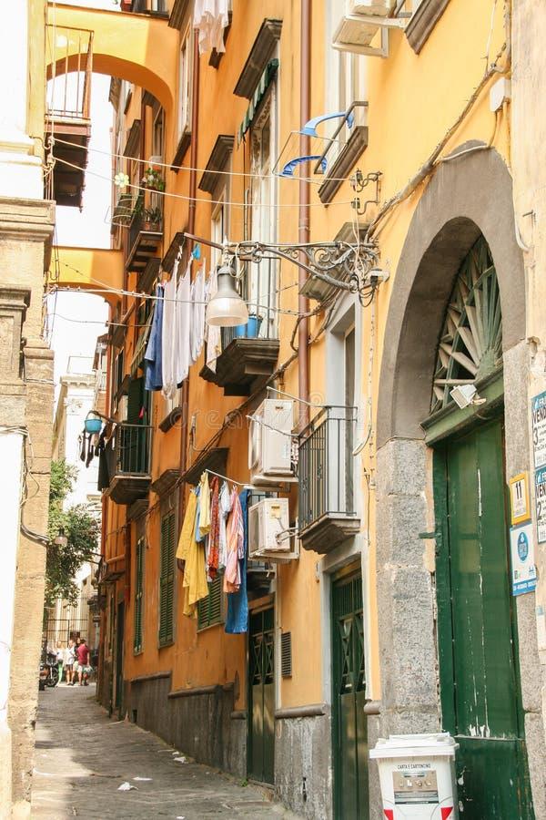 Переулок Неаполь стоковые изображения rf