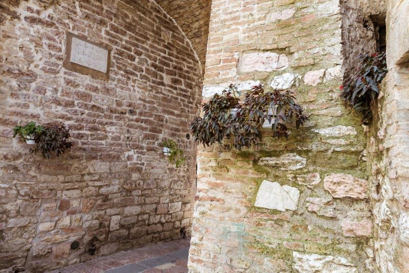 Переулок Assisi стоковая фотография rf