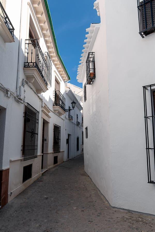 Переулок Priego de Cordoba в Андалусии в Испании стоковые изображения