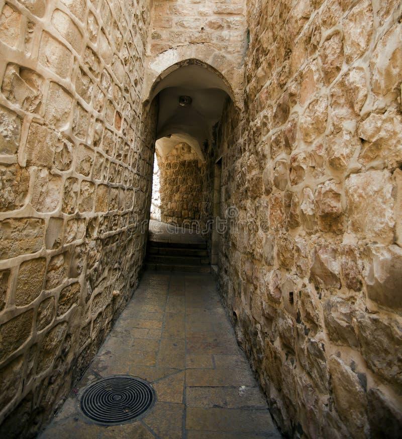 Старый переулок Иерусалима стоковое фото rf