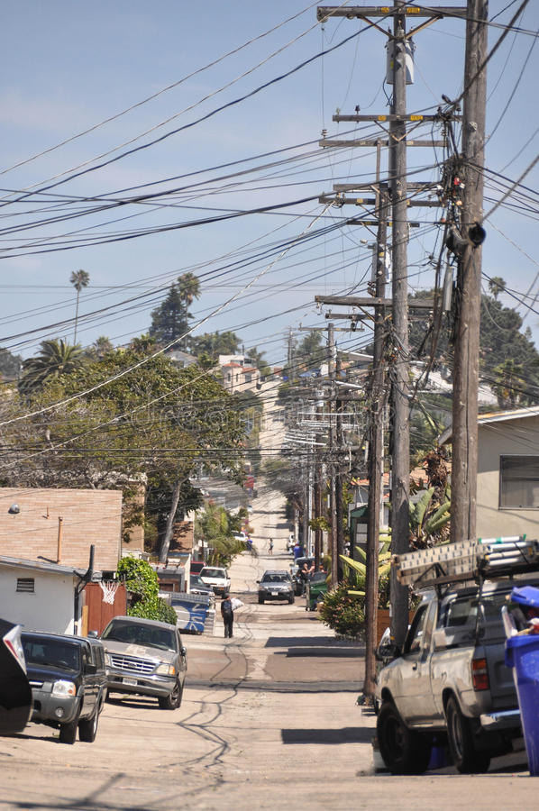 Переулок в Сан-Диего стоковая фотография