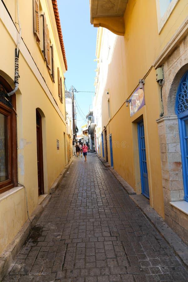 Переулок Греции стоковое изображение