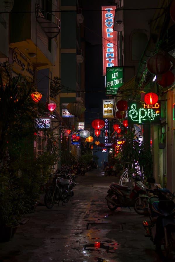 Переулок задней части Сайгона стоковая фотография