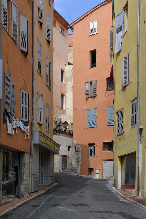 Переулок на Грасс в Франции стоковая фотография rf