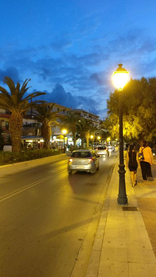 Переулок дороги в рассвете стоковые изображения