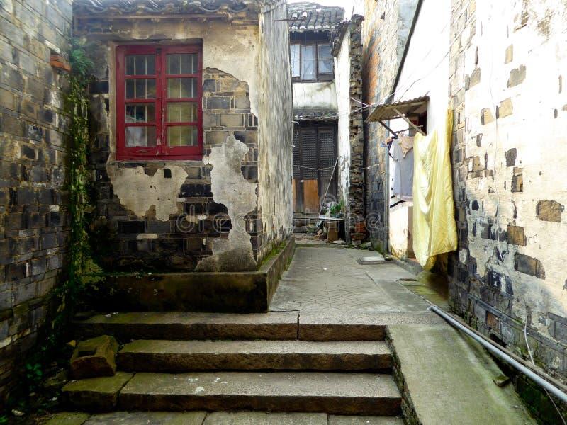 Переулок древнего города Tongli стоковые фотографии rf