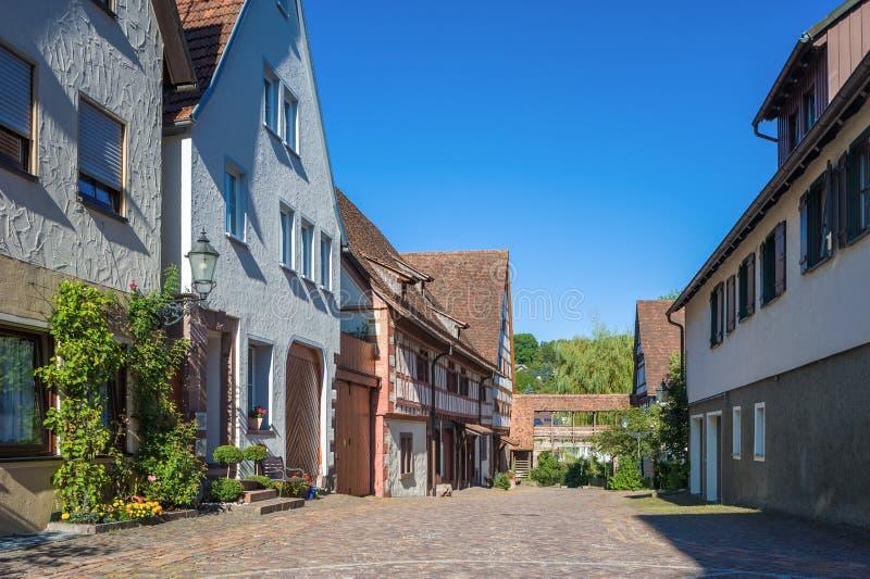 Переулок Tithe в Dornstetten стоковые фотографии rf