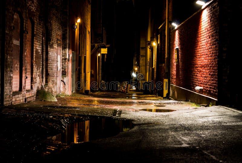 Переулок WA ночи стоковые изображения rf