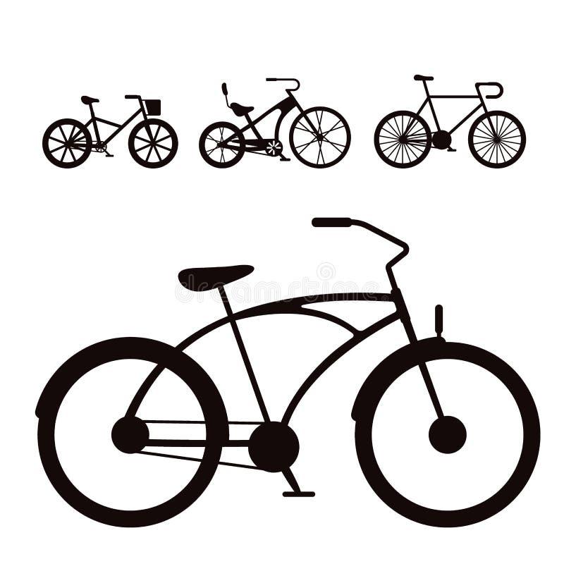 Перехода велосипеда стиля велосипедов вектора иллюстрация транспорта цикла лета корабля езды винтажного старого ретро иллюстрация вектора