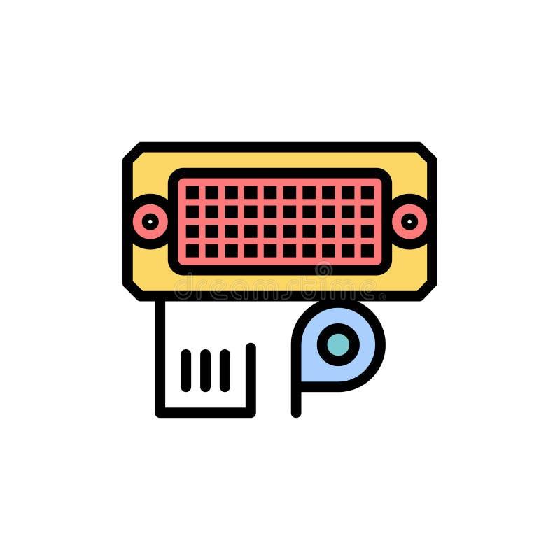 Переходник, соединение, данные, значок цвета входного сигнала плоский Шаблон знамени значка вектора бесплатная иллюстрация