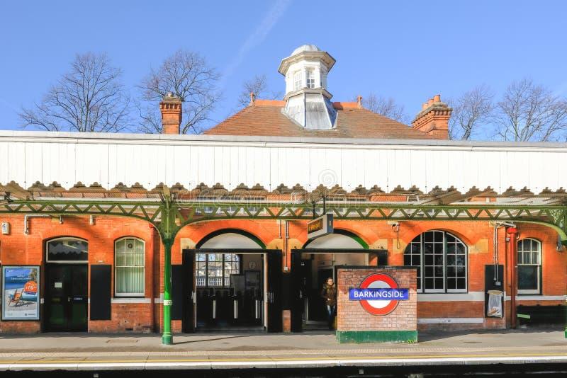 Переход Лондона, станция метро Barkingside стоковые изображения rf