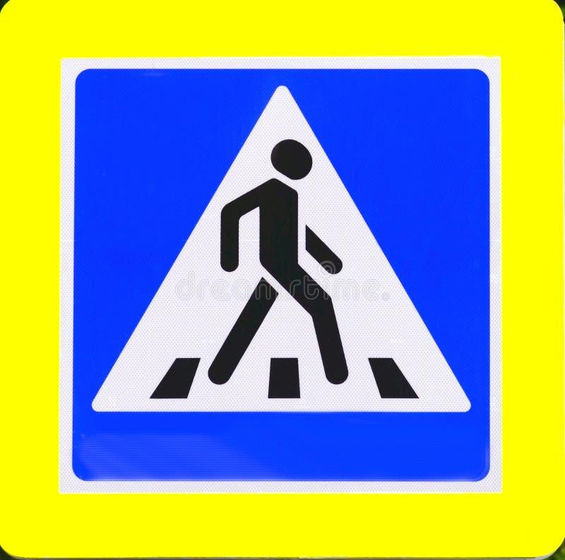ПЕРЕХОД дорожного знака стоковые изображения