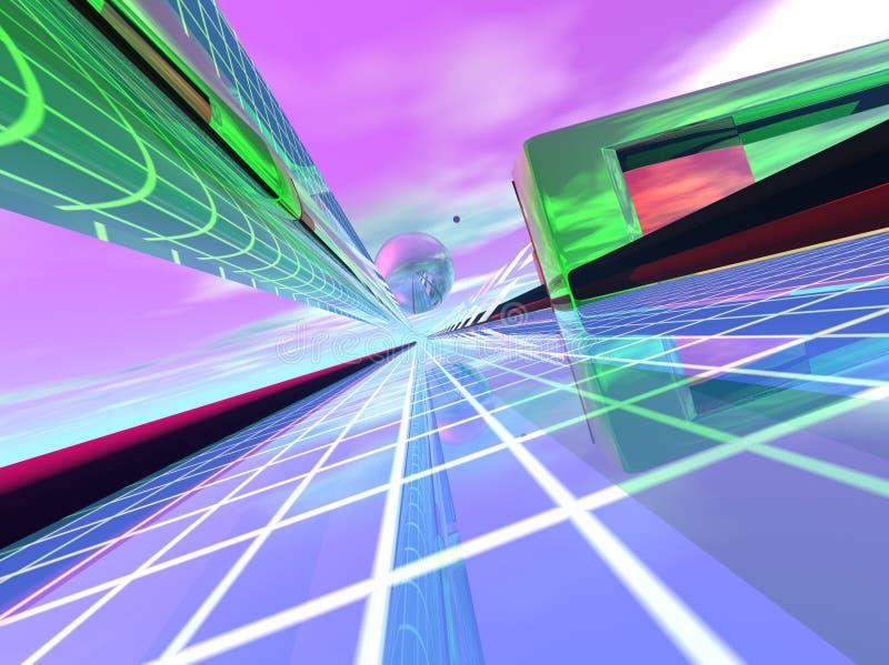 переход светлой скорости данных иллюстрация вектора