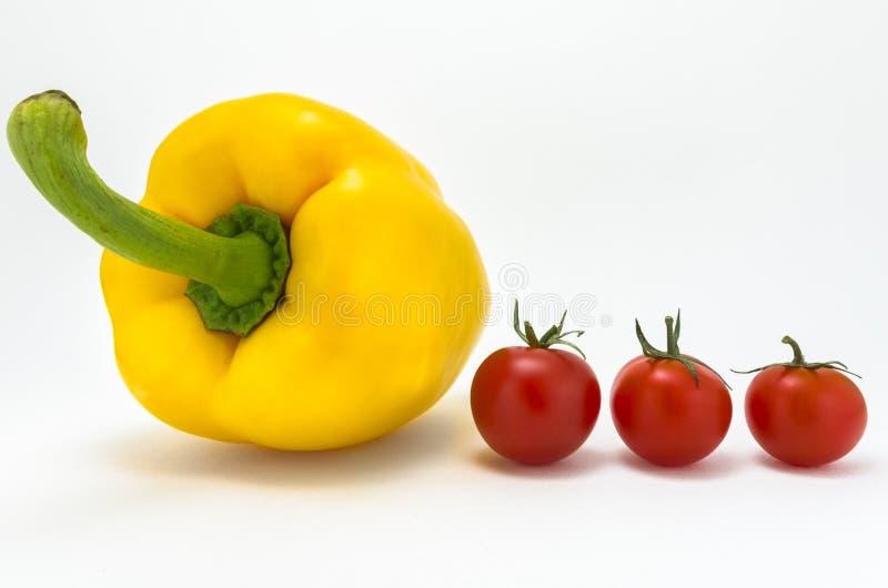 Перец и томаты стоковая фотография rf