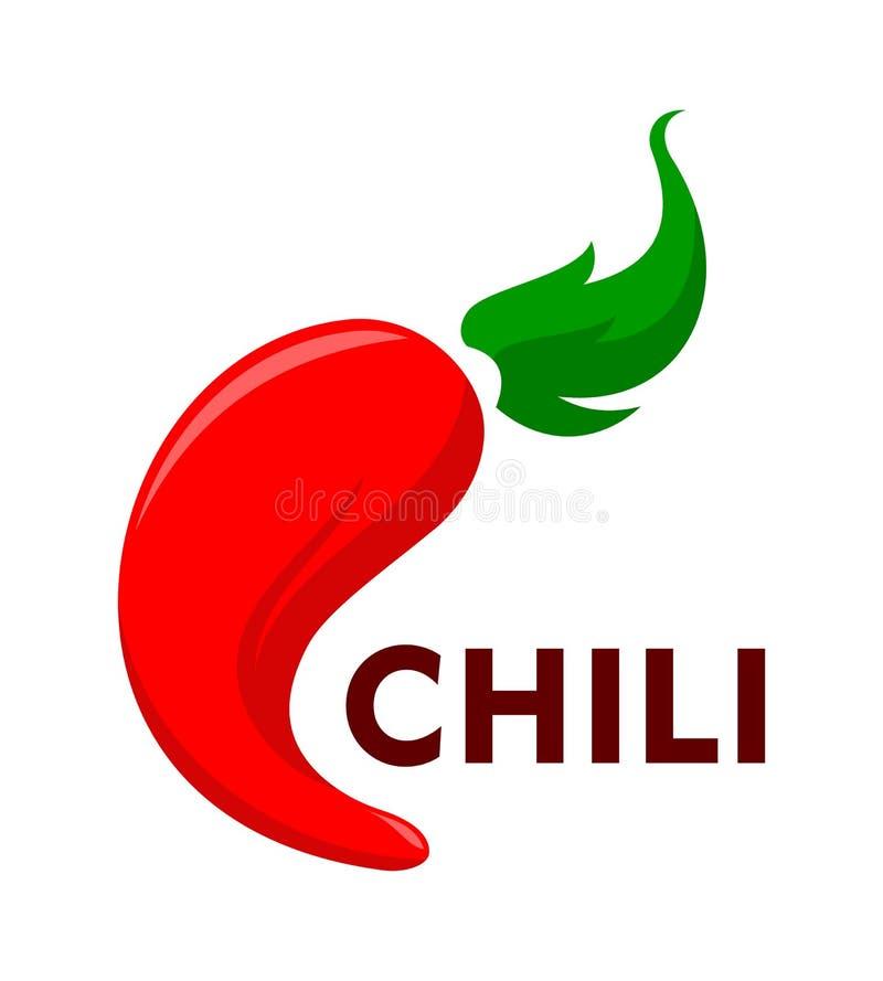 Перец красного Chili иллюстрация вектора