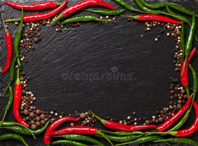 Перец Chili и перчинка стоковое изображение rf