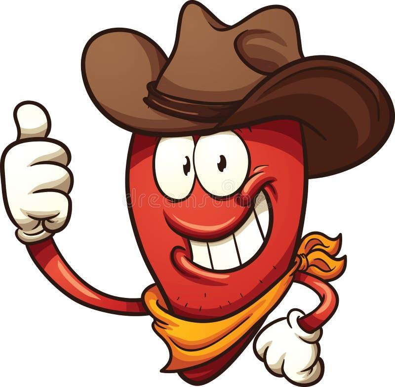 Перец chili ковбоя бесплатная иллюстрация