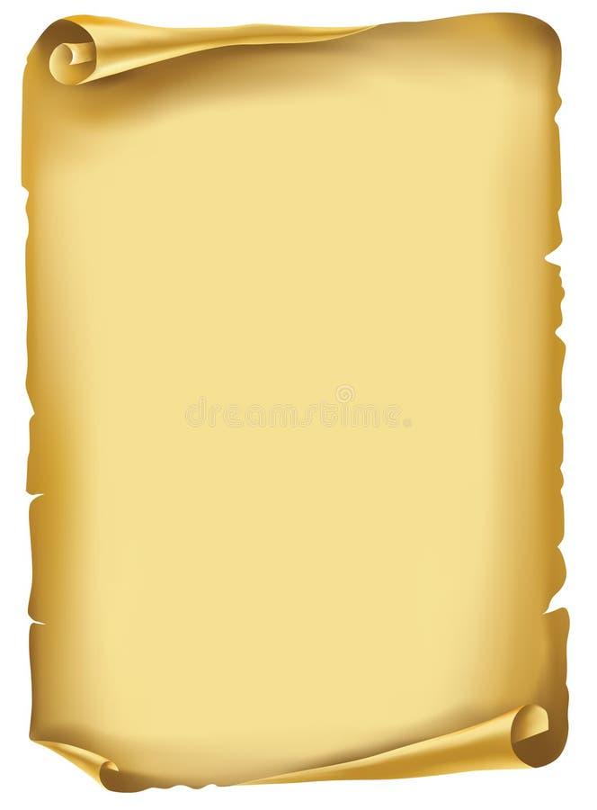 перечень рукописи старый иллюстрация штока