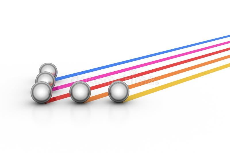 Перечень стального шарика иллюстрация вектора
