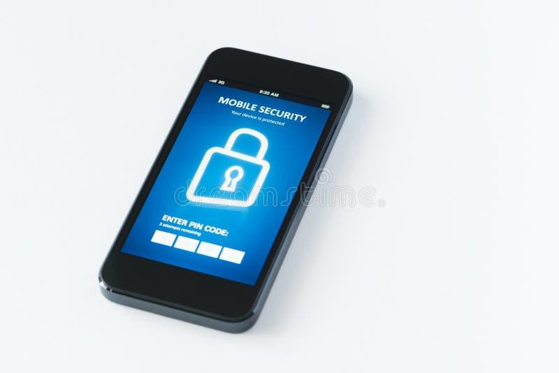 Передвижная безопасность app стоковое изображение rf