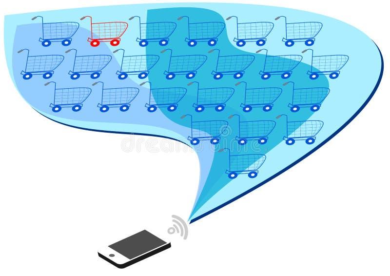 Передвижная коммерция иллюстрация вектора