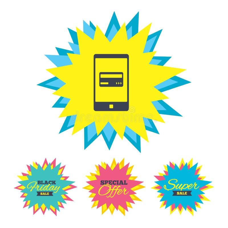 Download Передвижной значок оплат Smartphone с карточкой Иллюстрация вектора - иллюстрации насчитывающей покупка, banister: 81804282