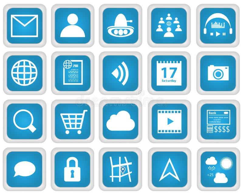 Передвижной комплект значка веб-служб бесплатная иллюстрация