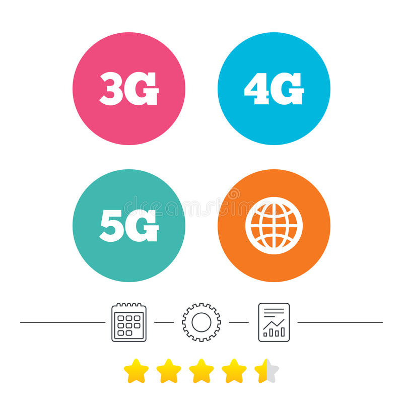 Download Передвижные значки радиосвязей 3G, 4G и 5G Иллюстрация вектора - иллюстрации насчитывающей конспектов, установки: 81804248