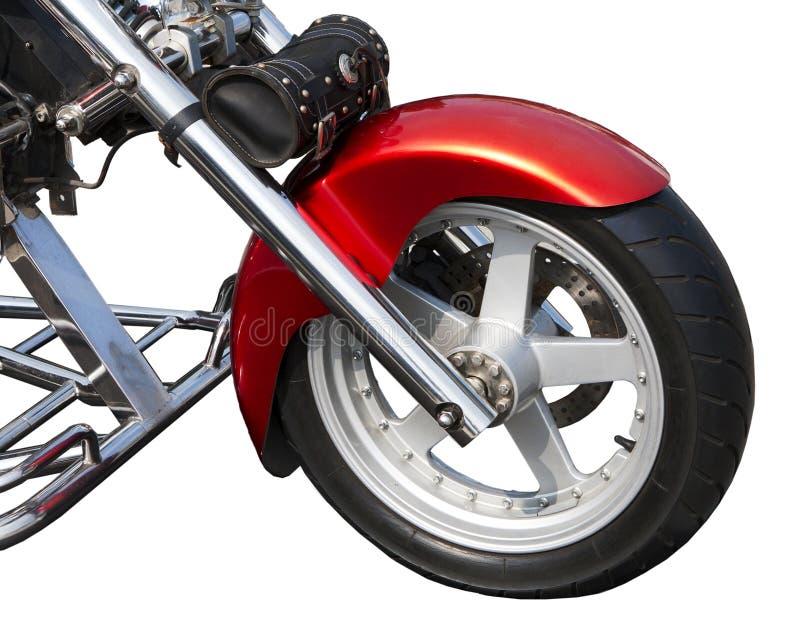 Переднее колесо старого мотоцикла стоковые изображения