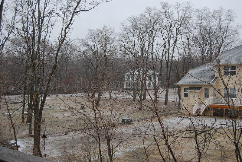 Перед снегом в приходить стоковое изображение