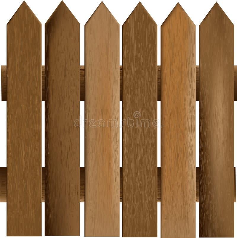 перила деревянные иллюстрация вектора