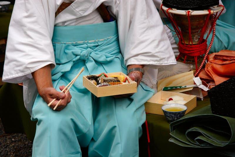 период обеда costume bento стоковые фотографии rf