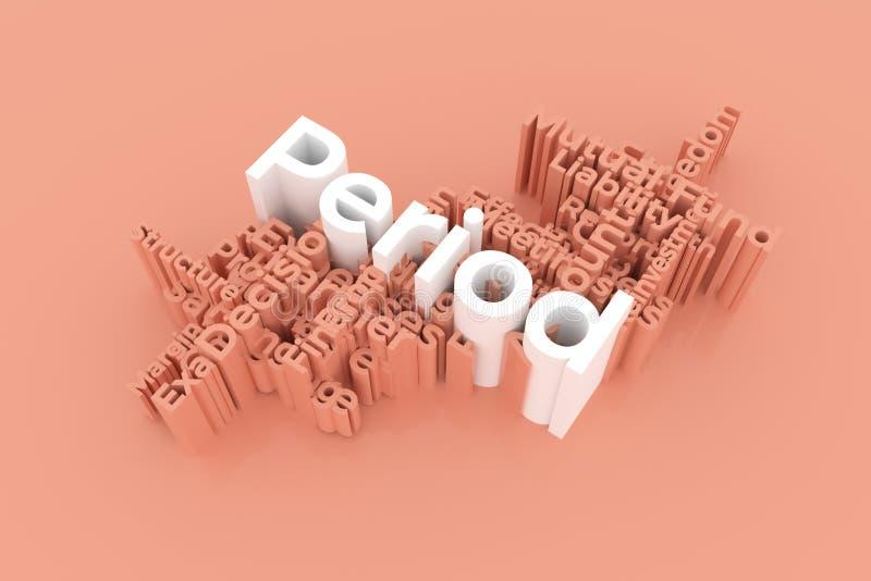 Период, слова ключевого слова финансов заволакивает Для интернет-страницы, графического дизайна, текстуры или предпосылки r иллюстрация штока