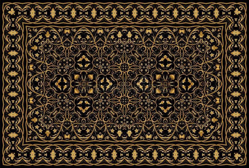 Персидский покрашенный ковер иллюстрация вектора
