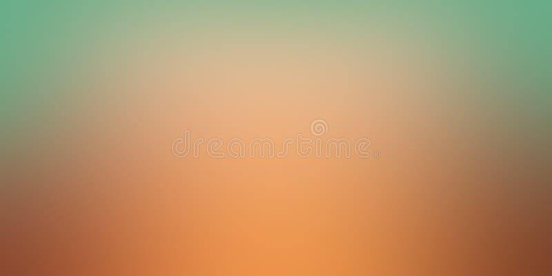 Персик оранжевый и чеканить зеленую нерезкость предпосылки в мягкой р иллюстрация вектора