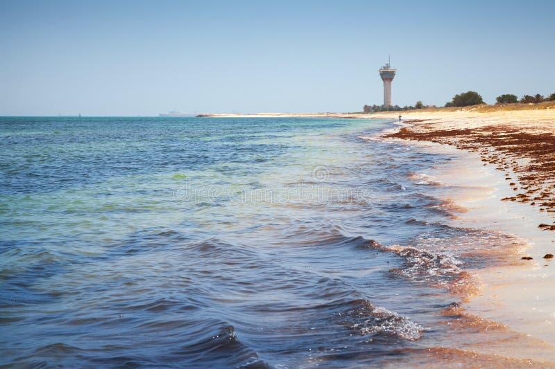 Персидский залив Ras Tanura, Саудовская Аравия стоковое изображение