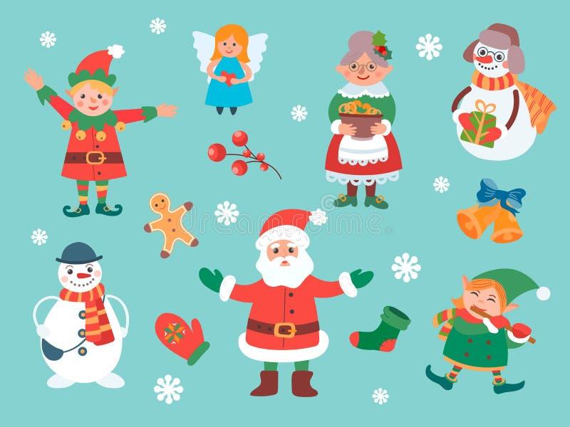 Персонажи Рождества бесплатная иллюстрация