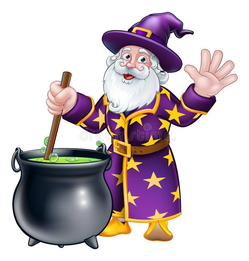 Персонаж из мультфильма волшебника и котла бесплатная иллюстрация