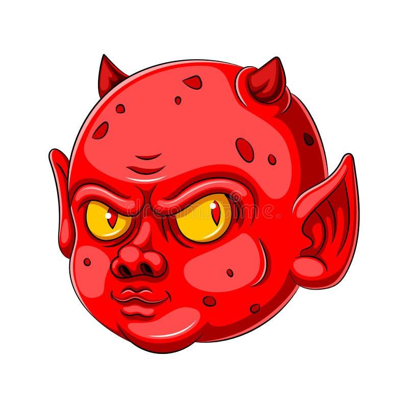 Персонаж из мультфильма дьявола младенца иллюстрация вектора