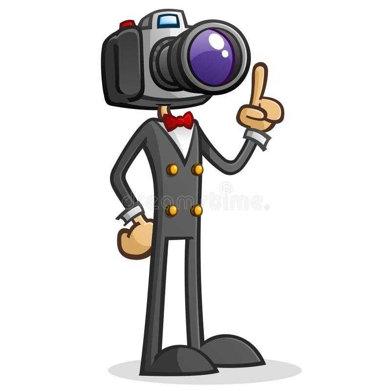 Персонаж из мультфильма папарацци головки камеры бесплатная иллюстрация